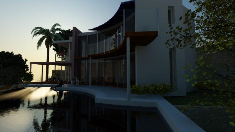 rendering vista notturna bordighera  Villa a Bordighera rendering esterno 1 0089 780x439  Rendering 1 0089 780x439