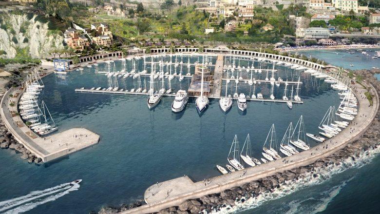 rendering porto di ventimiglia  Porto di Ventimiglia calaDelForte complessivo 780x439  Rendering calaDelForte complessivo 780x439