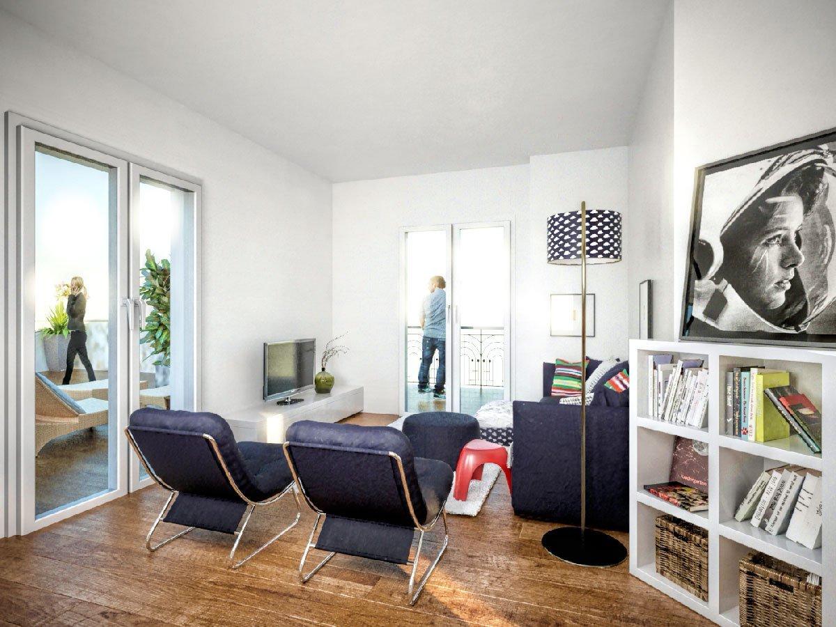rendering di interno soggiorno  Rendering di interno appartamento Imperia rendering di interno soggiorno 1