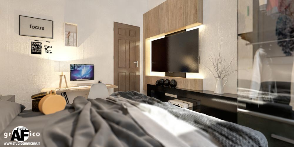 rendering camera da letto  Camera da letto camera da letto3