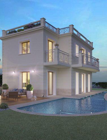 rendering vista notturna  Rendering Esterno Villa vista notturna 378x493  Home vista notturna 378x493