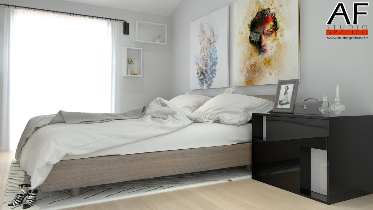 Rendering di interni – Appartamento Rendering di camera da letto 2 1200x675
