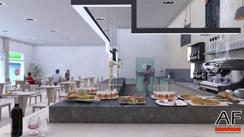 rendering bar  Rendering Bar ristorante rendering bar 2