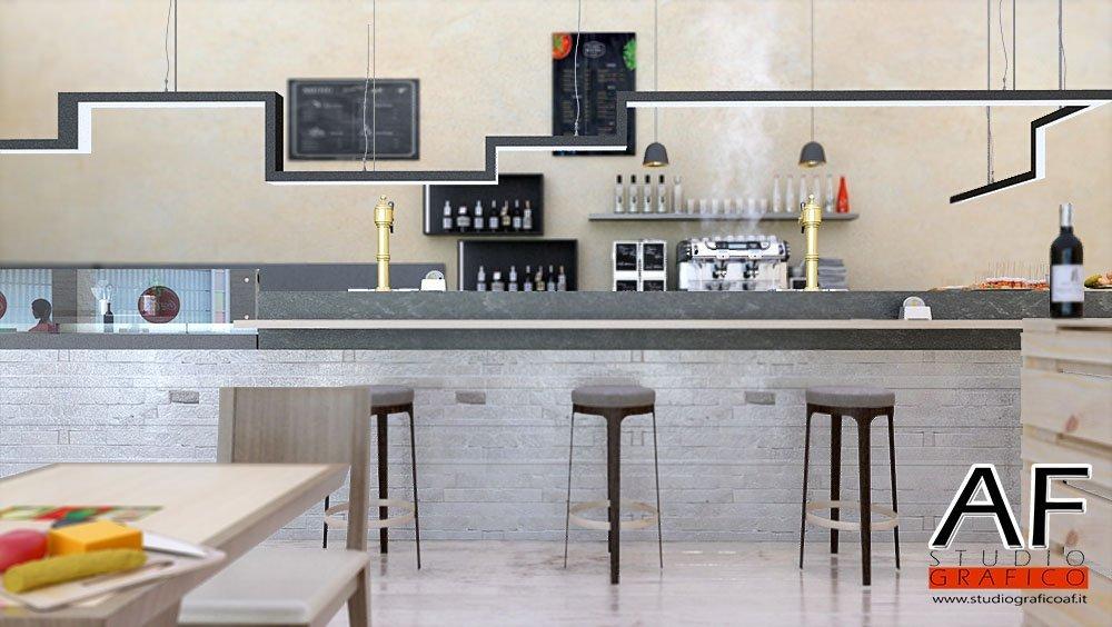 rendering bar  Rendering Bar ristorante rendering bar 3