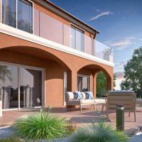 rendering di esterno villa  Villa Bifamiliare rendering di esterno villa bifamiliare 2 200x200