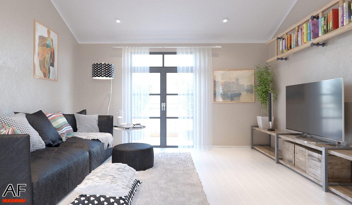 Rendering di interni – Appartamento  Studio Grafico Af